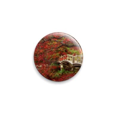Значок 25мм  Японский садик..
