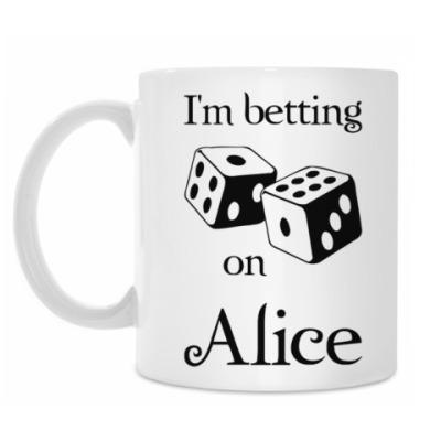 Кружка I'm betting on Alice