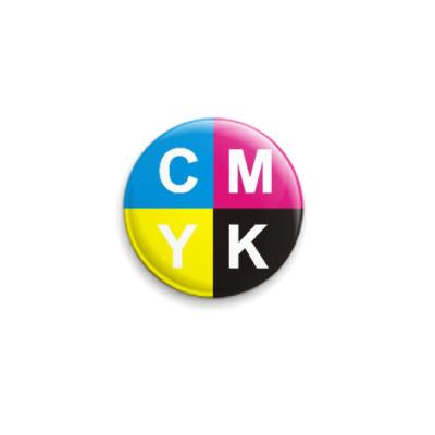 "Значок 25мм  ""CMYK"""