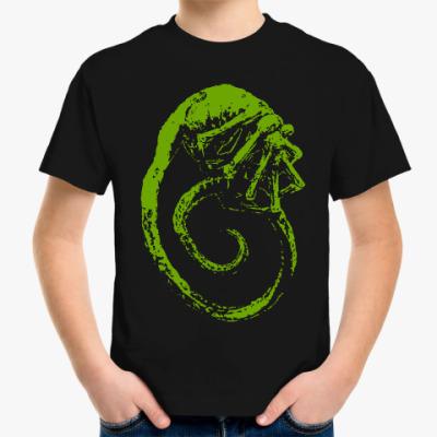 Детская футболка Чужой. Лицехват