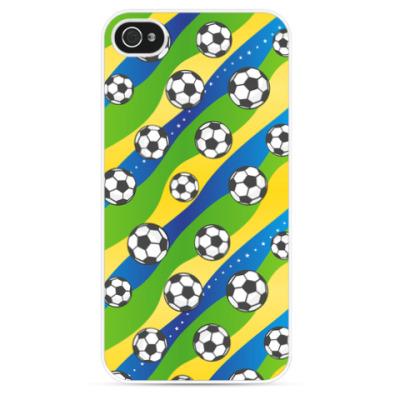 Чехол для iPhone Футбольные мячи