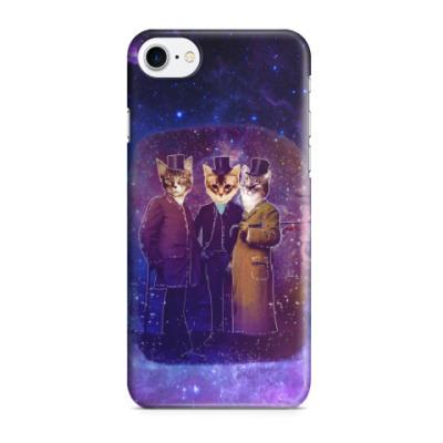 Чехол для iPhone 7/8 Три космических кота