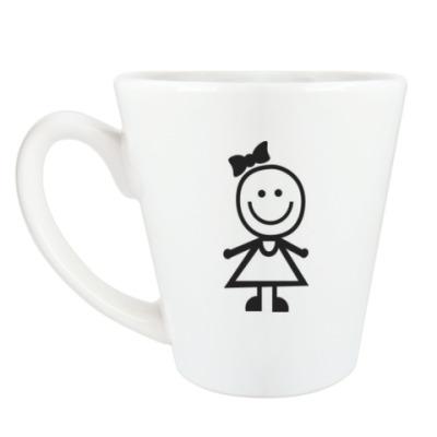 Чашка Латте Девчушка