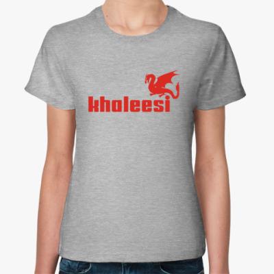 Женская футболка Дракон Кхалиси