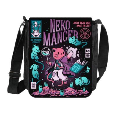 Сумка на плечо (мини-планшет) Nekomancer - Magic Neko | Магический котик