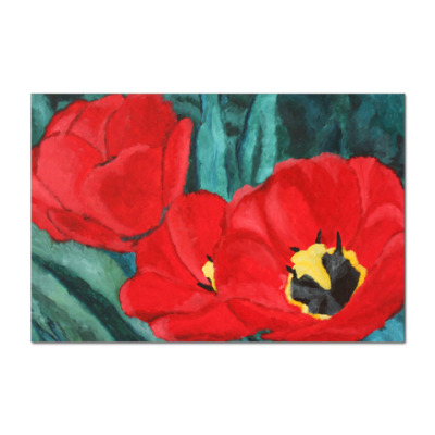 Наклейка (стикер) Тюльпаны