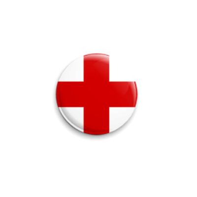 Значок 25мм  «Красный Крест»