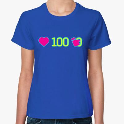 Женская футболка 100