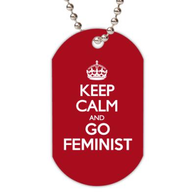 Жетон dog-tag Go feminist