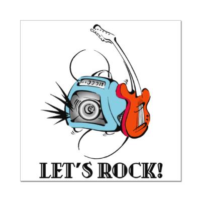 Наклейка (стикер) Let's Rock!
