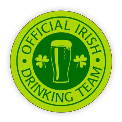 Костер (подставка под кружку) Official Irish drinking team