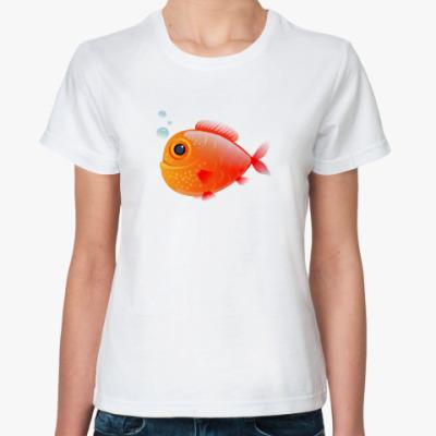 Классическая футболка Довольная рыба