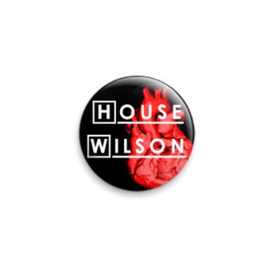 Значок 25мм  House/Wilson (SLA31)
