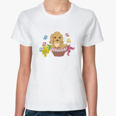 Классическая футболка Собаки. Щенки. Хипстер. Dog.
