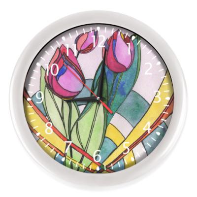 Настенные часы Тюльпаны