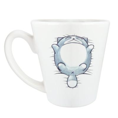 Чашка Латте Круглый кот