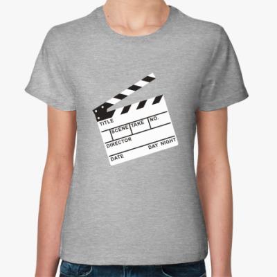 Женская футболка Мотор, камера!