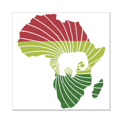 Наклейка (стикер) Африканский слон
