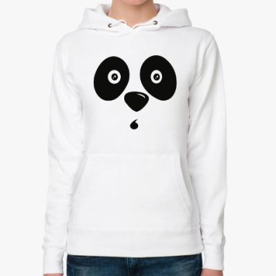 Женская толстовка худи Удивлённая панда