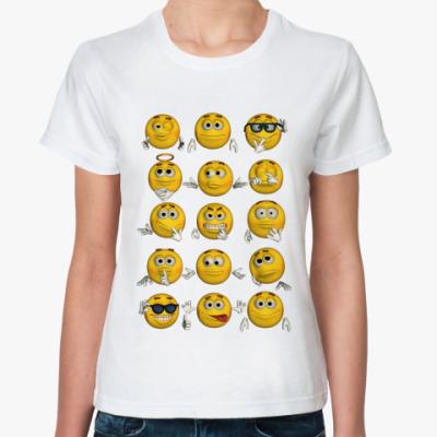 Классическая футболка   Смайлики