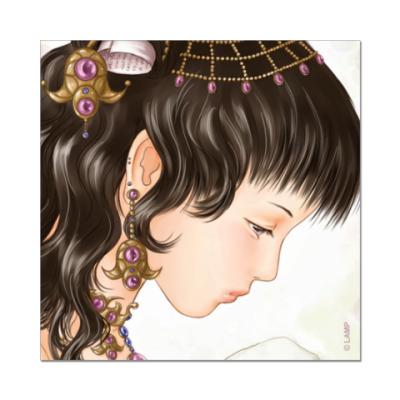 Наклейка (стикер)  «Принцесса»