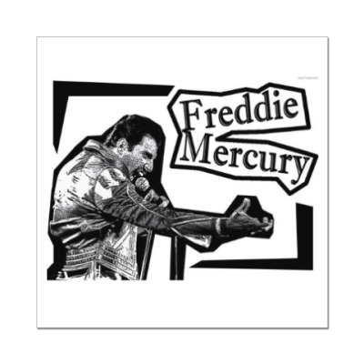 Наклейка (стикер) Фредди Меркьюри