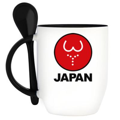 Кружка с ложкой Японская леди