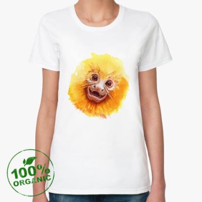 Женская футболка из органик-хлопка Обезьянка Golden Lion Tamarin