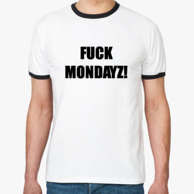 Футболка Ringer-T Анти-понедельник