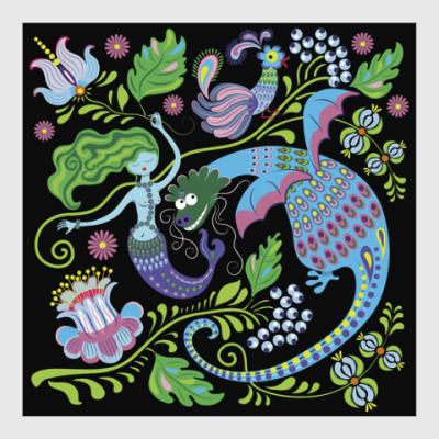 Постер Дракон и русалка