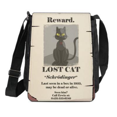 Сумка-планшет  кот Шредингера