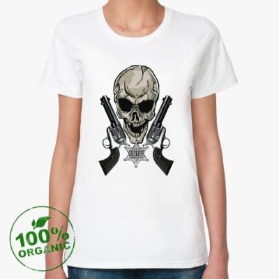 Женская футболка из органик-хлопка шериф