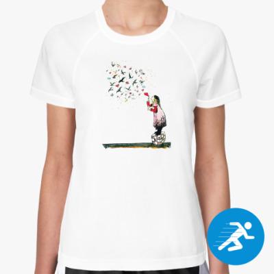 Женская спортивная футболка Смайлы души