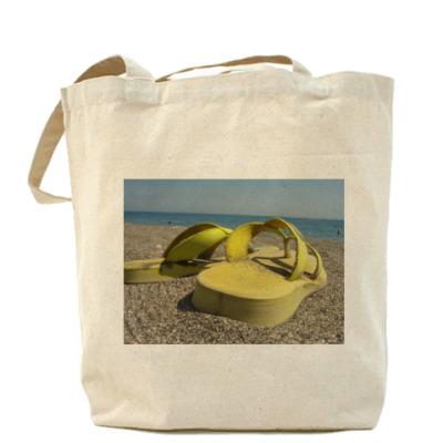 Сумка Холщовая сумка   на море