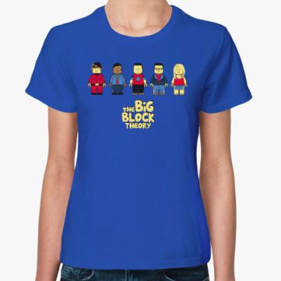 Женская футболка Теория большого блока