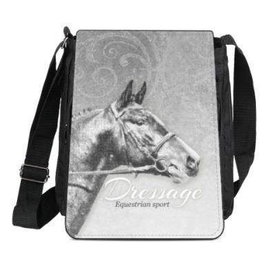 Сумка-планшет Конный спорт, лошади. Dressage