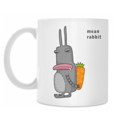 Кружка Mean rabbit