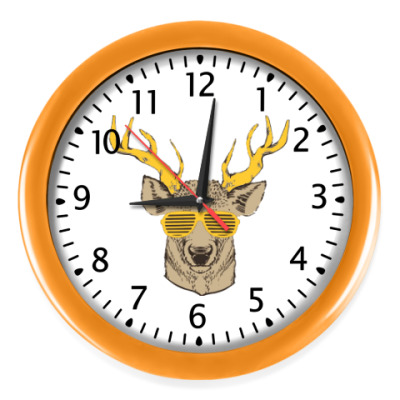 Настенные часы Олень хипстер
