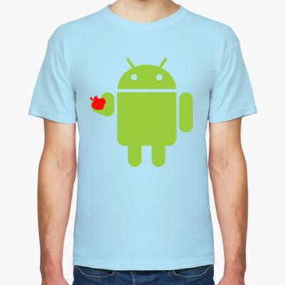 Футболка Андроид с яблоком