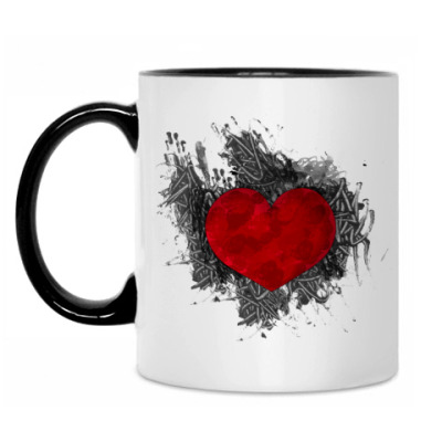 Кружка Сердце в краске