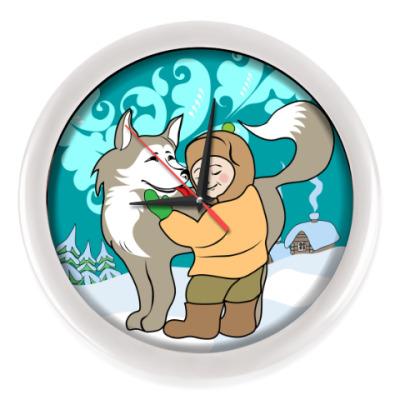 Настенные часы Собака друг человека