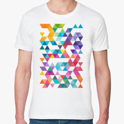 Футболка из органик-хлопка Разноцветные треугольники