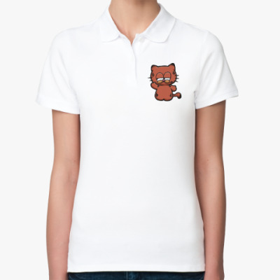 Женская рубашка поло Китти Гарфилд