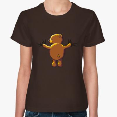 Женская футболка Hug me. Мишка. Объятия. Bear.
