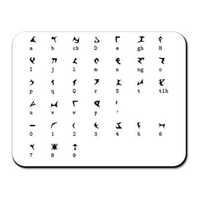 Коврик для мыши  'Алфавит'