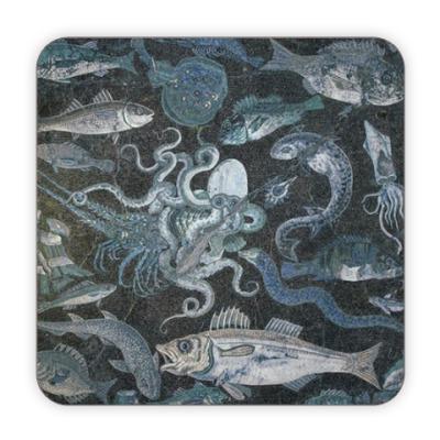 Костер (подставка под кружку) Морские твари