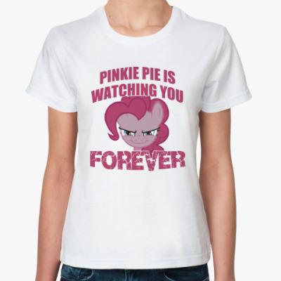 Классическая футболка Пинки Пай наблюдает за тобой