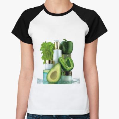 Женская футболка реглан Красота