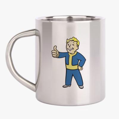 Кружка металлическая Fallout, Pipboy