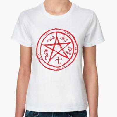 Женская футболка Пентаграмма - Supernatural
